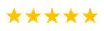 Five stars rating